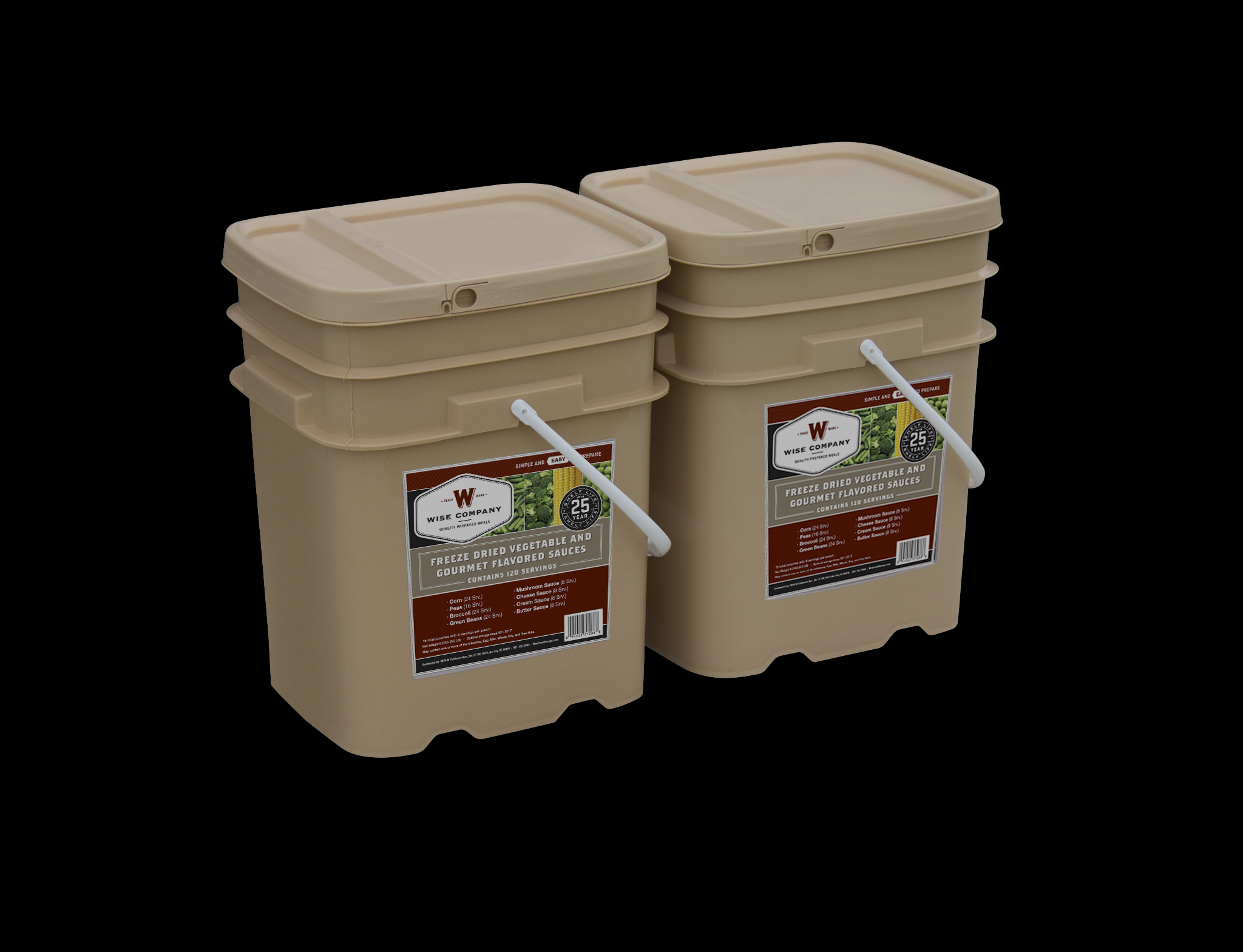 Freeze Dried Vegetables And Sauce Bucket 240 Servings